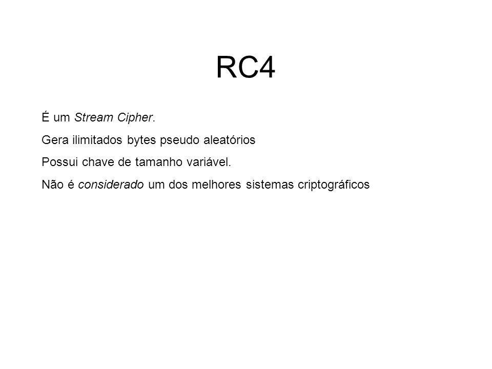 RC4 RC4 (also known as ARC4 or ARCFOUR) is the most widely-used stream cipher and it is used in popular protocols such as Secure Sockets Layer (SSL) (to protect Internet traffic) and wireless networks.