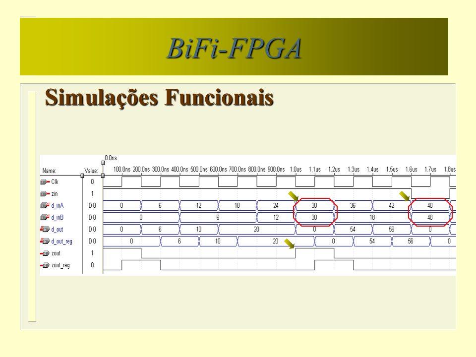 Simulações Funcionais BiFi-FPGA