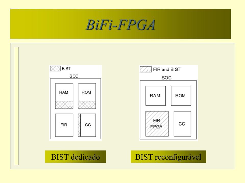 BiFi-FPGA BIST dedicadoBIST reconfigurável
