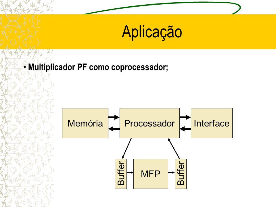 Buffer Processador MFP Memória Buffer Interface Aplicação Multiplicador PF como coprocessador;