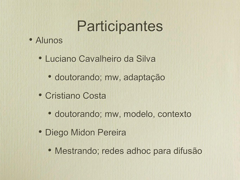 Participantes Valderi R.Q.