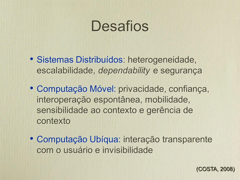 Modelo de Contexto Baseado em ontologia Representada em OWL Definida conforme metodologia existente e aceita pela comunidade Considerado o modelo mais promissor para representação de contexto Baseado em ontologia Representada em OWL Definida conforme metodologia existente e aceita pela comunidade Considerado o modelo mais promissor para representação de contexto (NOY e McGUINNESS, 2001) (BALDAUF et al., 2007)