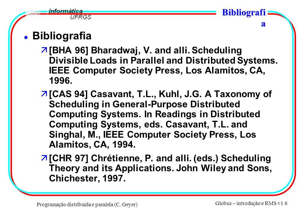 Programação distribuída e paralela (C.
