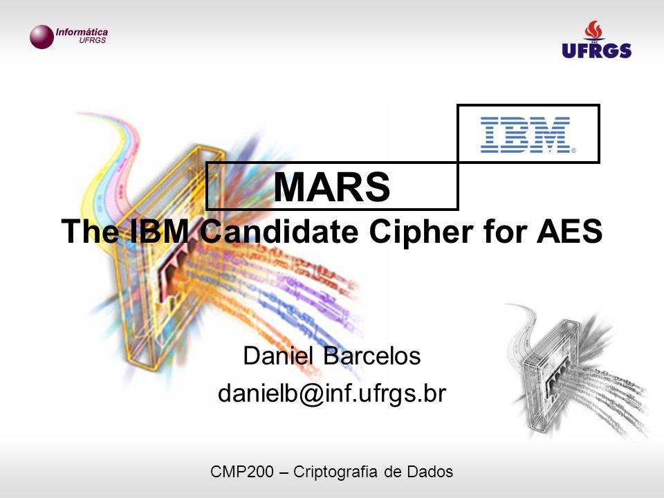 MARS The IBM Candidate Cipher for AES Daniel Barcelos danielb@inf.ufrgs.br CMP200 – Criptografia de Dados