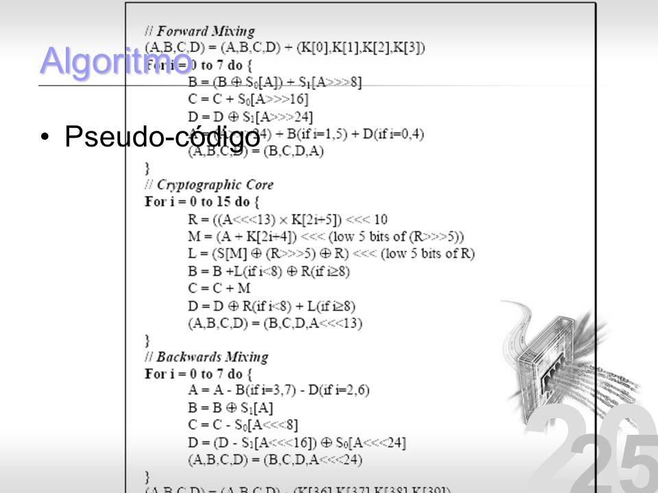 20 25 Algoritmo Pseudo-código