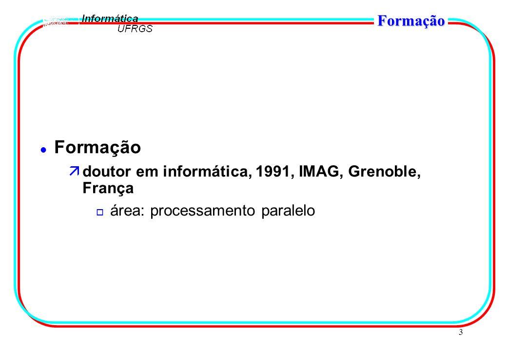 14 Atividades Atuais DOAP o ambiente avançado para programação distribuída em Java o DOBuilder: interface gráfica de programação o ReMMOS: replicação de objetos com mobilidade o DEPAnalyzer: análise estática (com fluxo) para otimização o DOMonitor: monitoração de objetos distribuídos o PRIMOS o comunicação eficiente em redes proprietárias o coleta de eventos: monitoração o mapeamento eficiente o 5 mestrandos o http://www.inf.ufrgs.br/procpar/hetnos/rf003.html#dobuilder