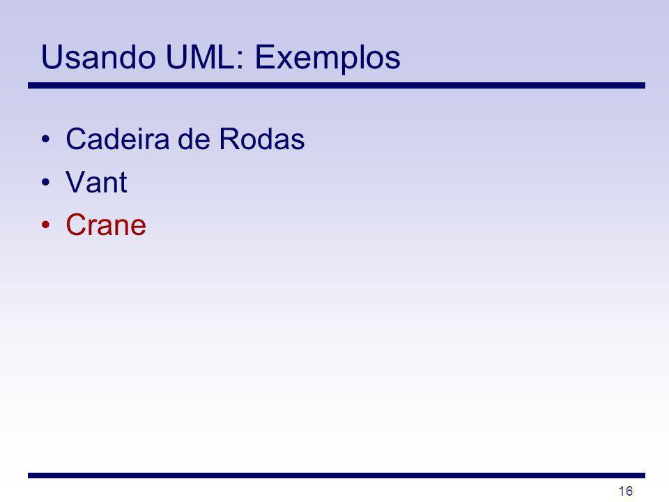 16 Usando UML: Exemplos Cadeira de Rodas Vant Crane