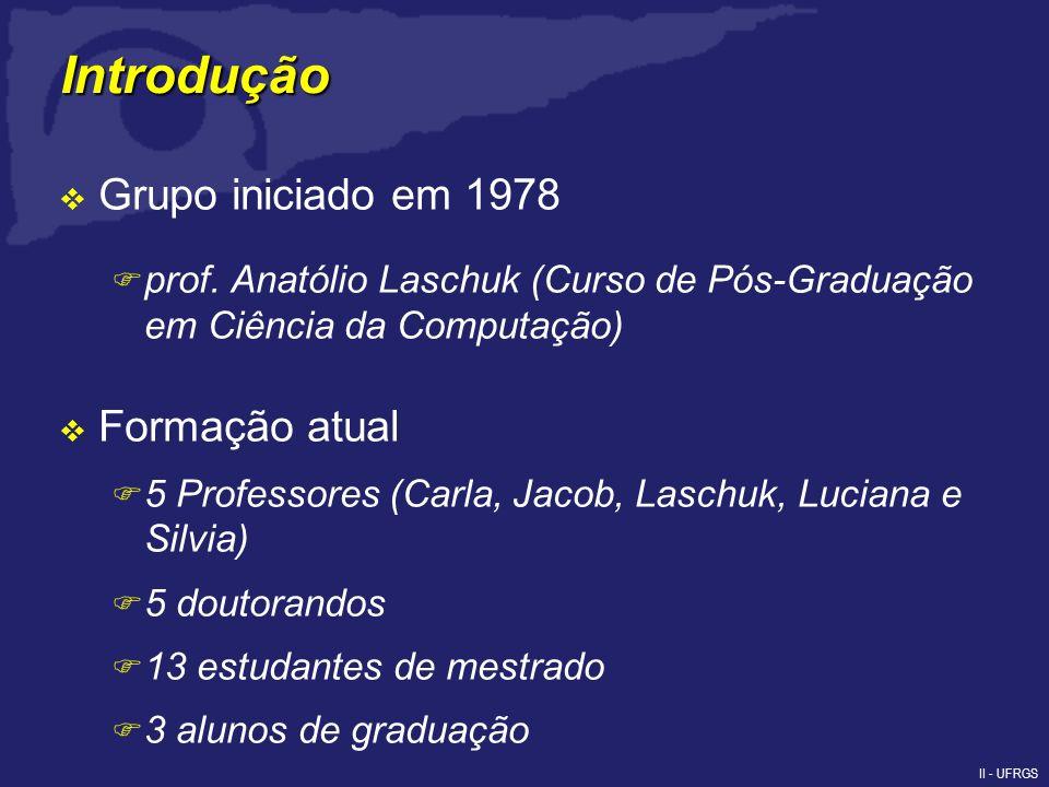 II - UFRGS Introdução Grupo iniciado em 1978 F prof.
