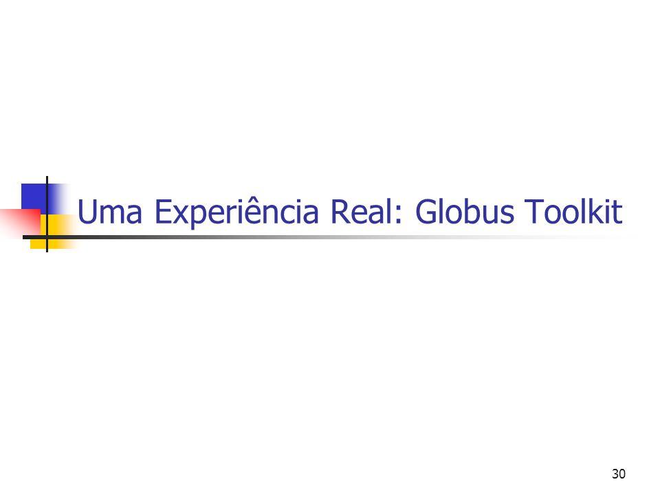 30 Uma Experiência Real: Globus Toolkit