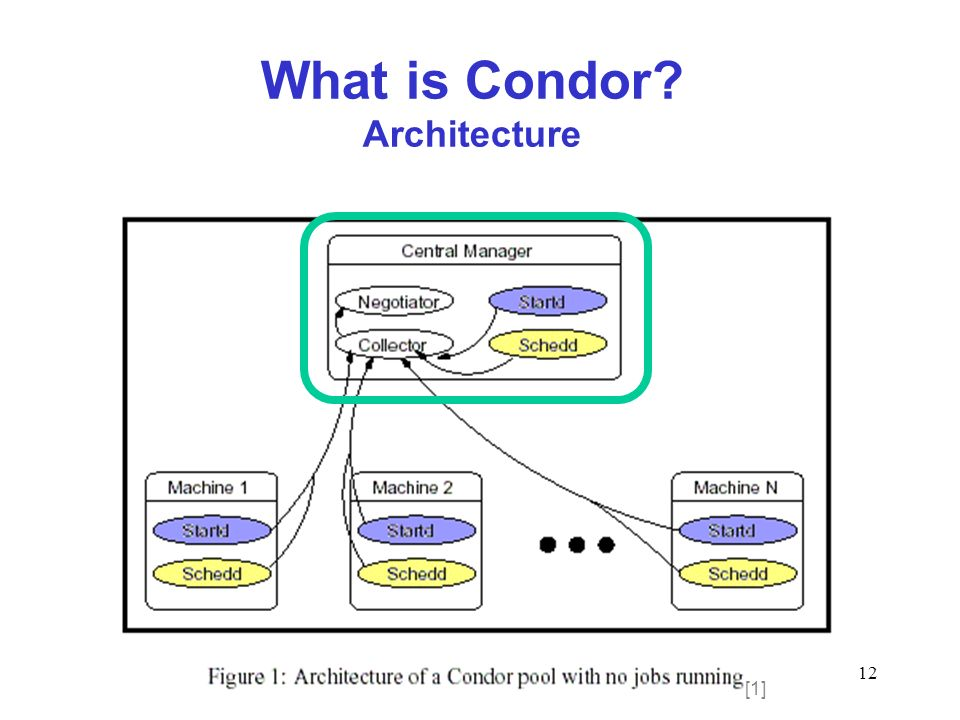 12 What is Condor? Architecture [1]