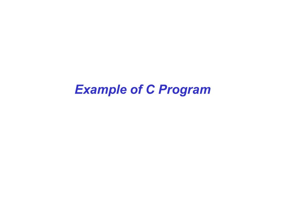 Example of C Program