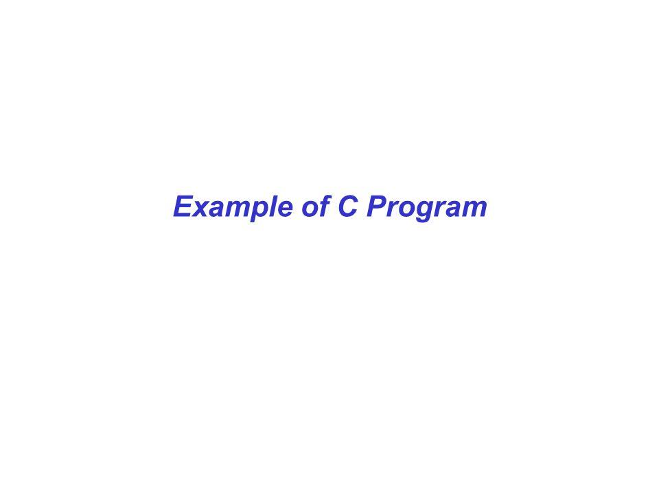 Example of C Program