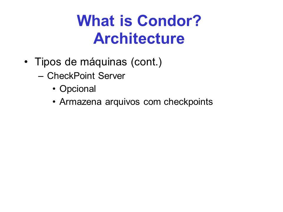 50 Running Jobs on Condor Java programs executable = jgfSection2.jar –é um jar –não um.class como no exemplo anterior arguments = JGFAllSizeA 4 –dois argumentos –exemplo gerado a partir do JavaGrand jar_files = jgfSection2.jar –parece redundante –mas sem esse argumento arquivo não é transferido