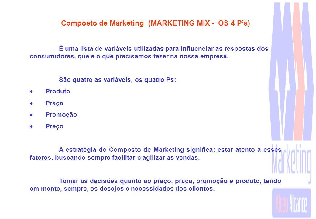 Composto de Marketing