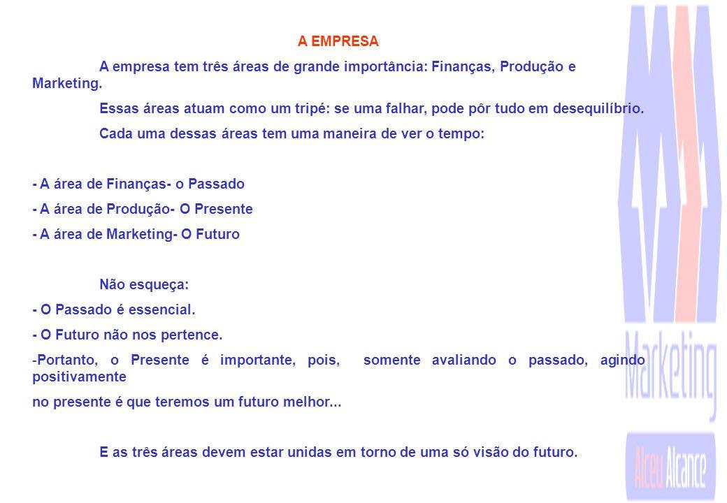 A EMPRESA A empresa tem três áreas de grande importância: Finanças, Produção e Marketing.