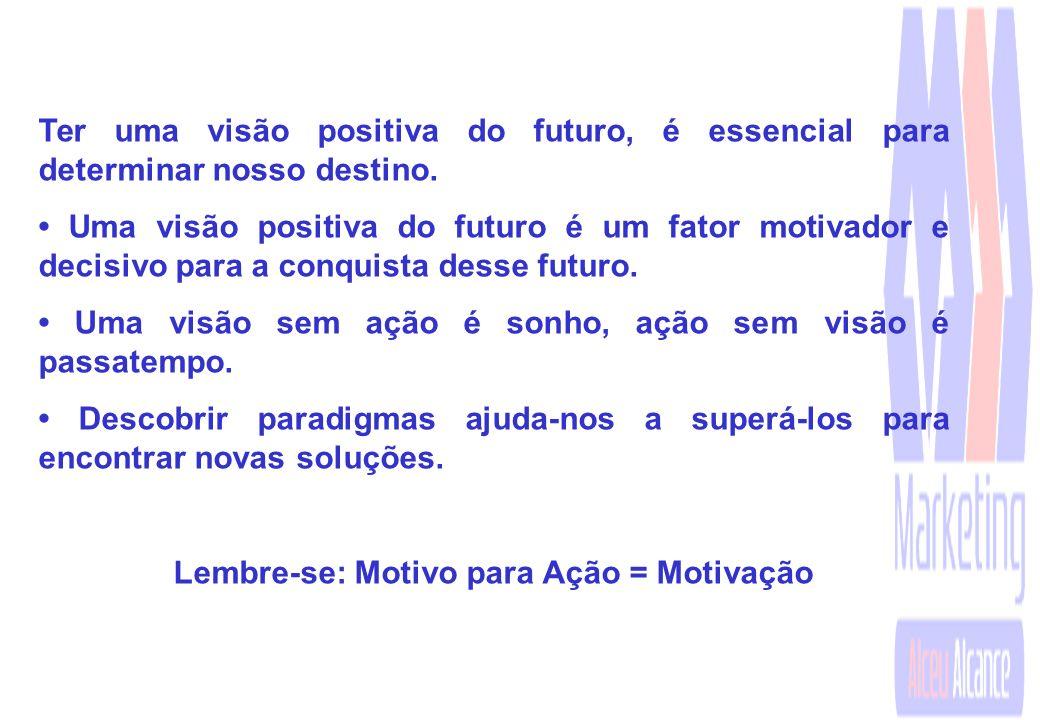 Ter uma visão positiva do futuro, é essencial para determinar nosso destino.