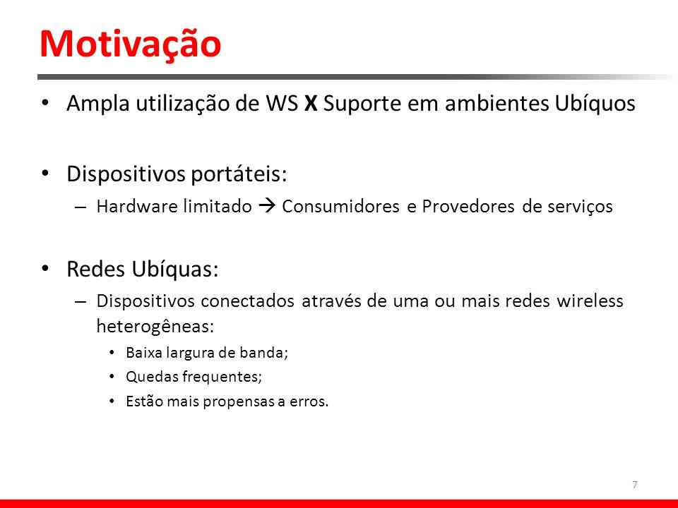 Projeto ubiSOAP 18 Middleware ubiSOAP: Arquitetura Visa a comunicação: baseando-se no MNR@ gerado pela camada anterior.