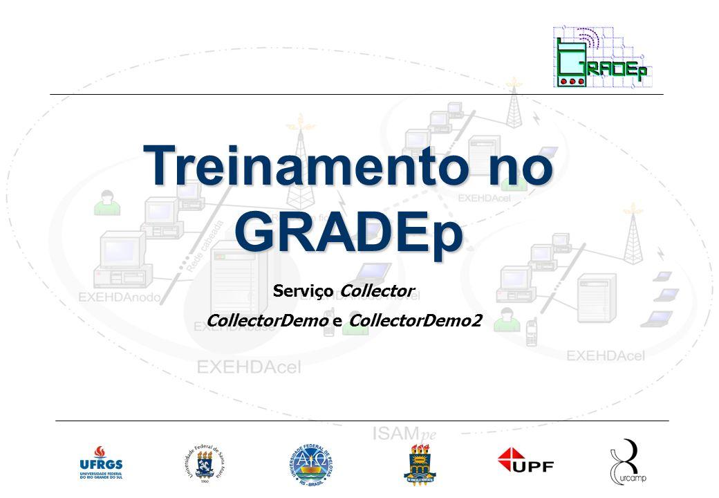 Slide 34 Rede Nacional de Ensino e Pesquisa Treinamento em Gradep - junho 2005 Serviço Collector Treinamento no GRADEp Serviço Collector CollectorDemo e CollectorDemo2