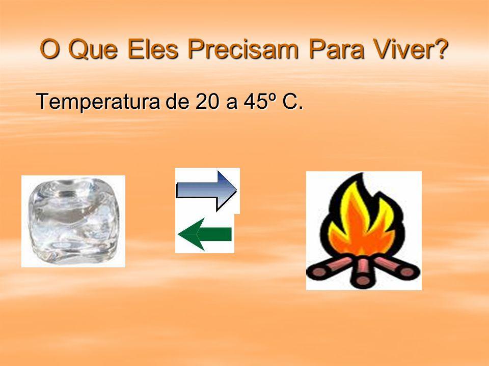 Temperatura de 20 a 45º C. Temperatura de 20 a 45º C.