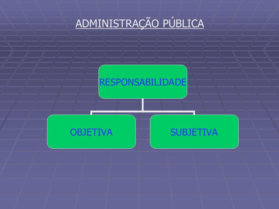 ADMINISTRAÇÃO PÚBLICA RESPONSABILIDADE OBJETIVASUBJETIVA