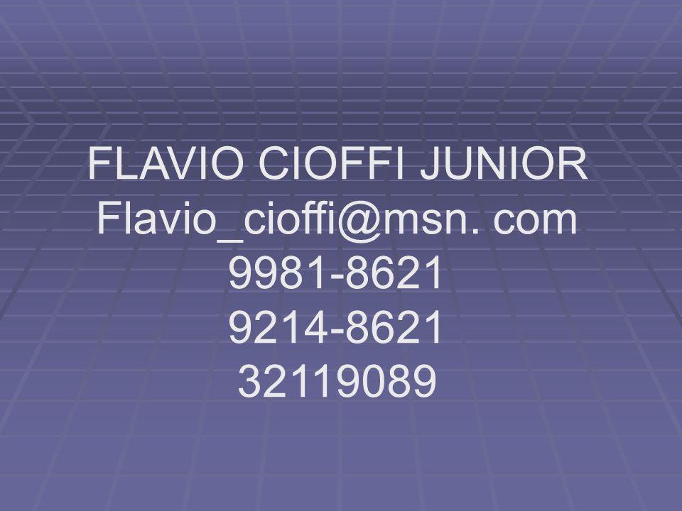 FLAVIO CIOFFI JUNIOR Flavio_cioffi@msn. com 9981-8621 9214-8621 32119089