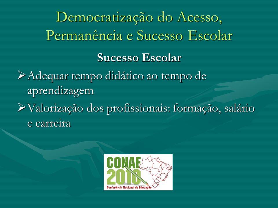 Democratização do Acesso, Permanência e Sucesso Escolar Gestão Democrática Participação Participação Autonomia Autonomia Transparência Transparência pluralidade pluralidade