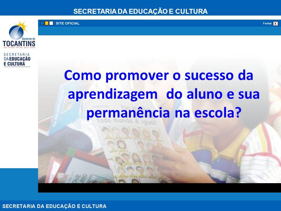 SECRETARIA DA EDUCAÇÃO E CULTURA x Fechar Como promover o sucesso da aprendizagem do aluno e sua permanência na escola?