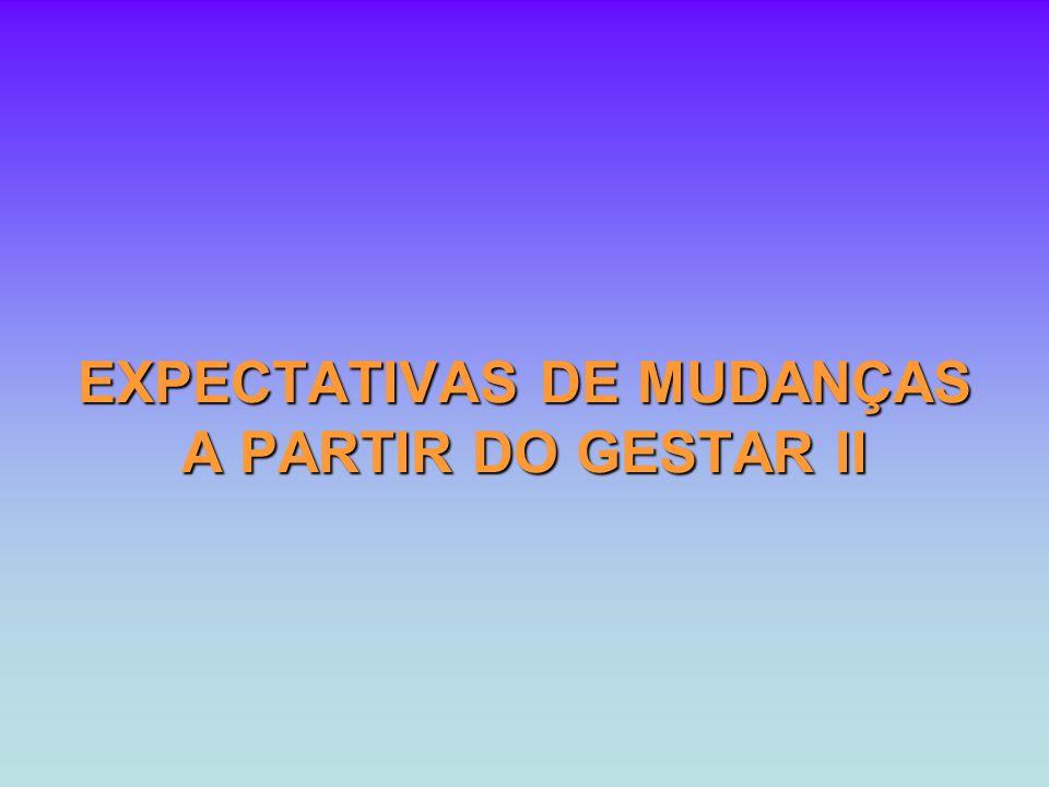 EXPECTATIVAS DE MUDANÇAS A PARTIR DO GESTAR II