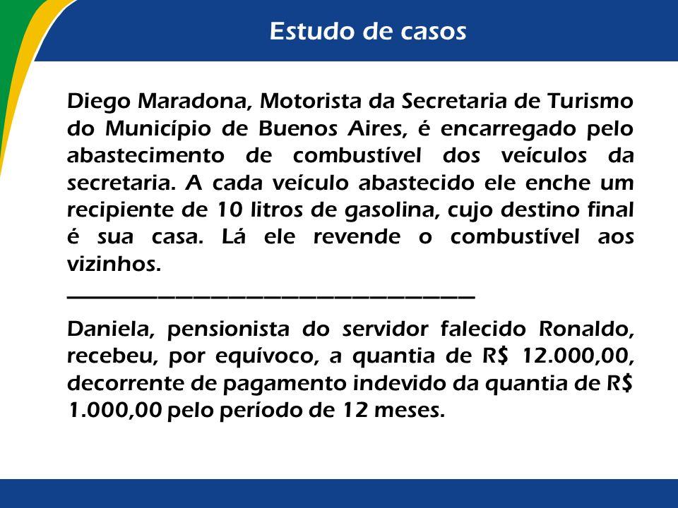 Estudo de casos Diego Maradona, Motorista da Secretaria de Turismo do Município de Buenos Aires, é encarregado pelo abastecimento de combustível dos v