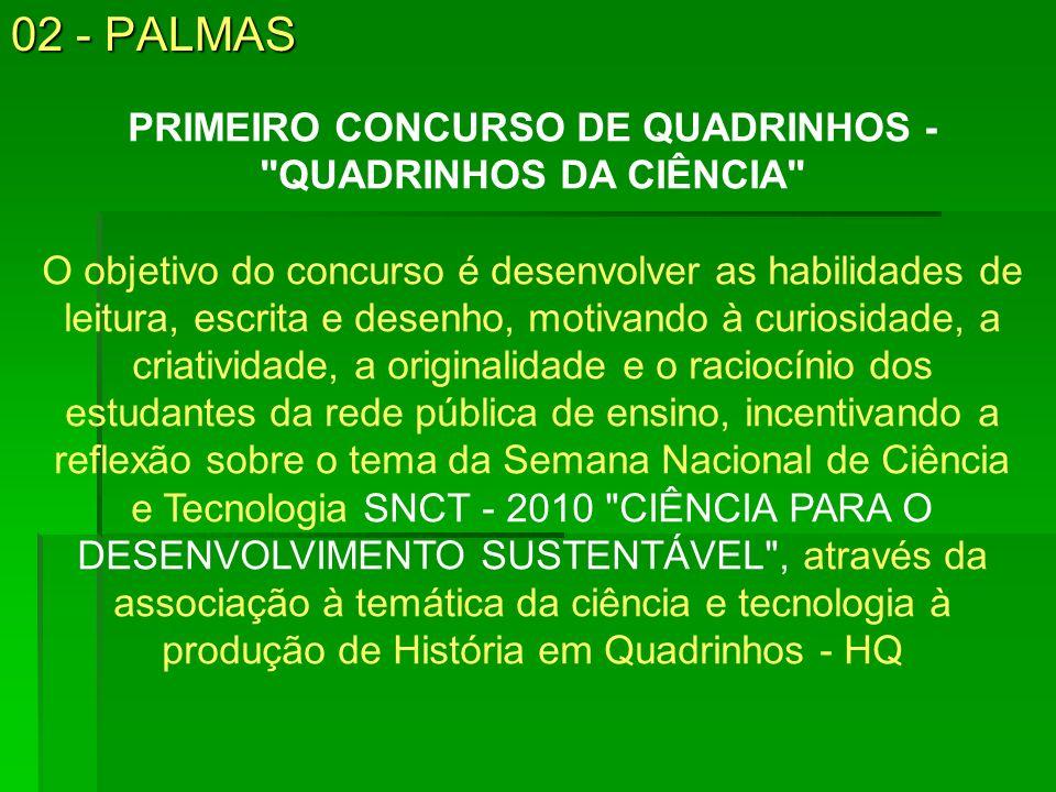 02 - PALMAS PRIMEIRO CONCURSO DE QUADRINHOS -