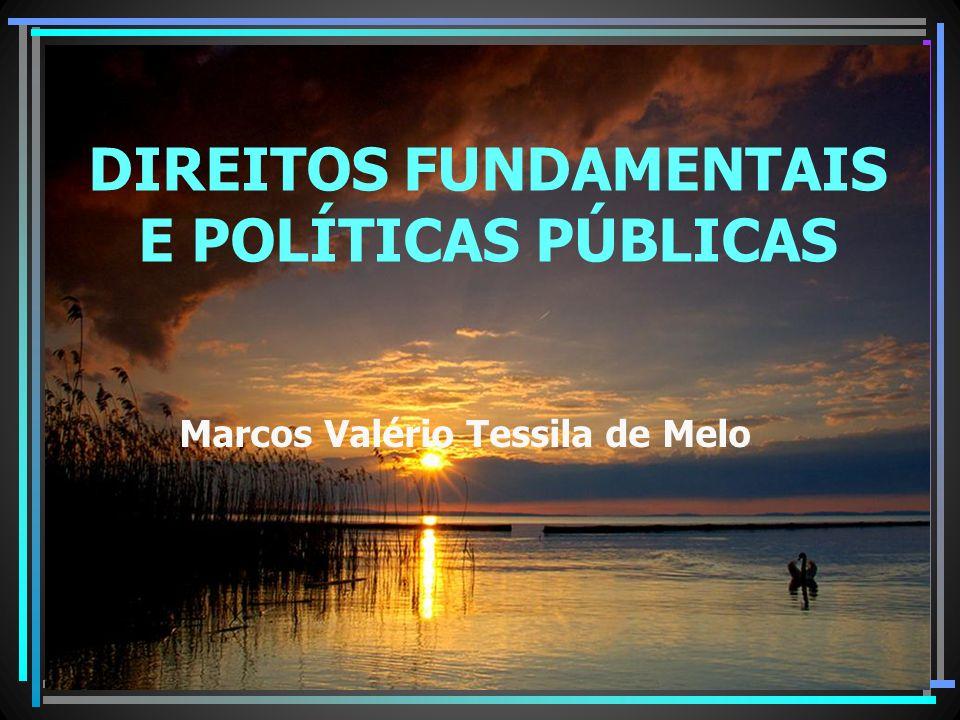 SISTEMA DE GARANTIA DE DIREITOS Marcos Valério Tessila de Melo DIREITOS FUNDAMENTAIS E POLÍTICAS PÚBLICAS