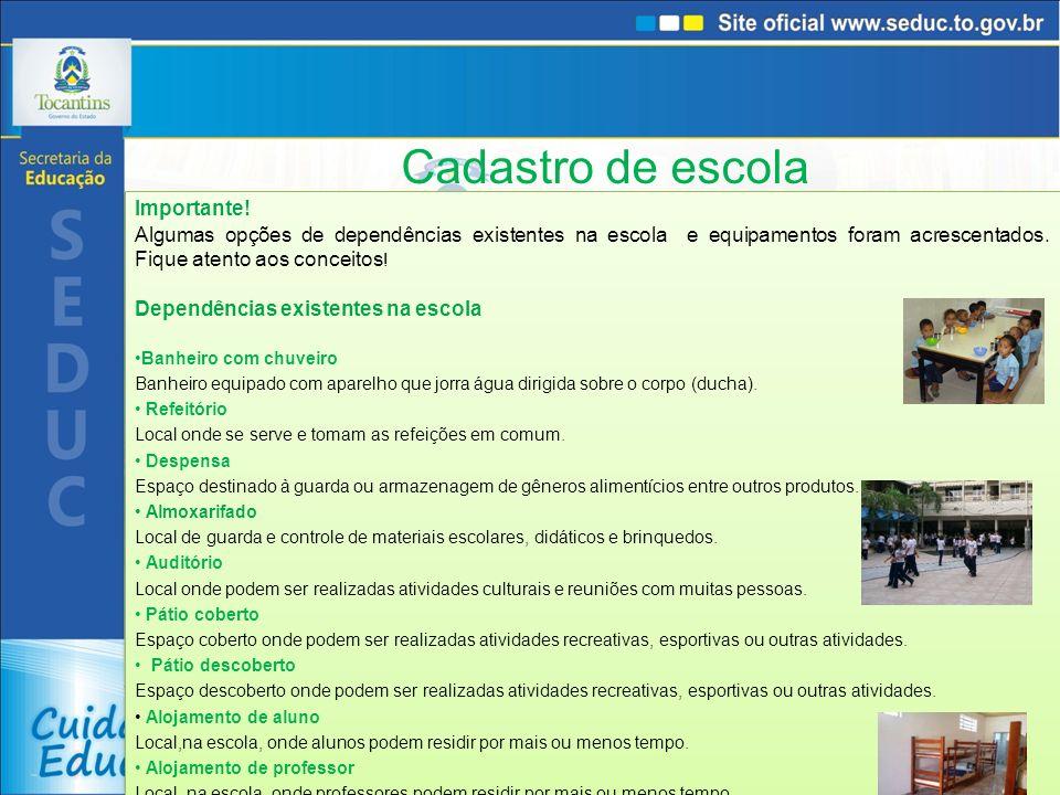 Cadastro de docente Localização/ Zona de residência Informar a zona/área de localização da residência do docente..
