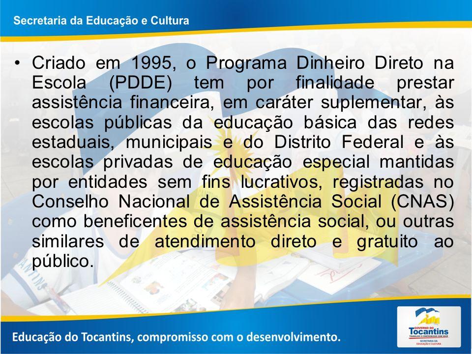 O programa engloba várias ações e objetiva a melhora da infraestrutura física e pedagógica das escolas e o reforço da autogestão escolar nos planos financeiro, administrativo e didático, contribuindo para elevar os índices de desempenho da educação básica.