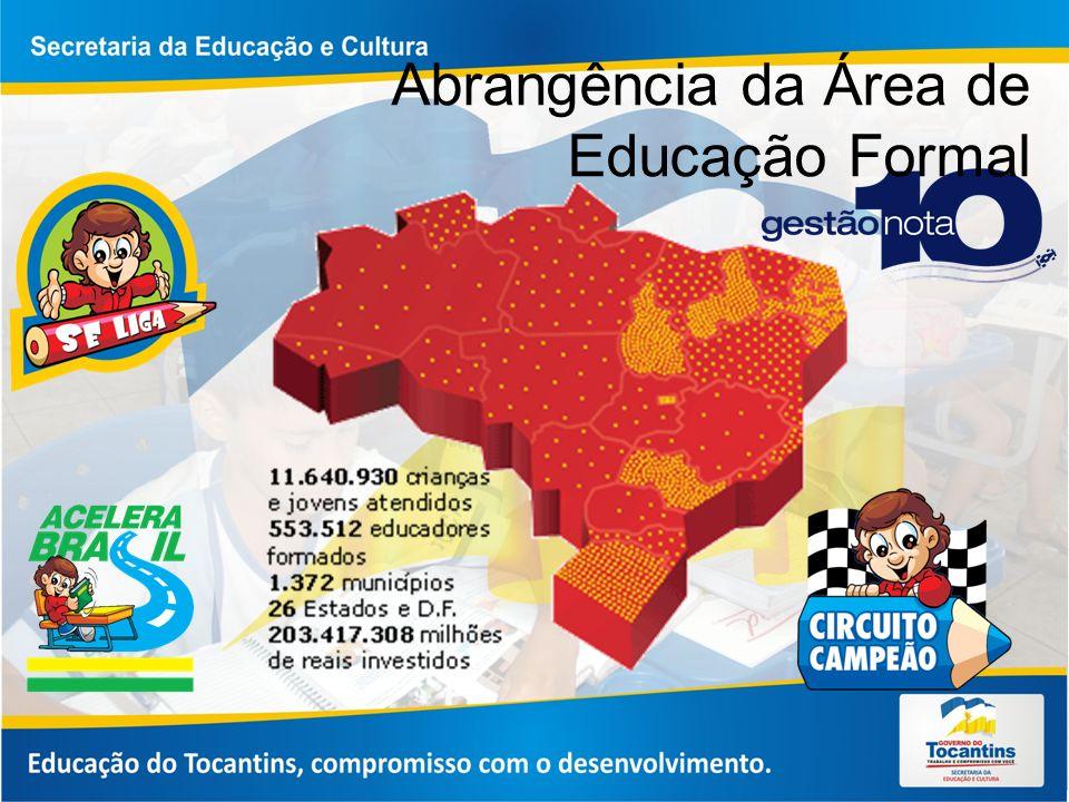 Abrangência da Área de Educação Formal