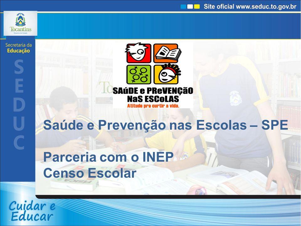 Saúde e Prevenção nas Escolas – SPE Parceria com o INEP Censo Escolar