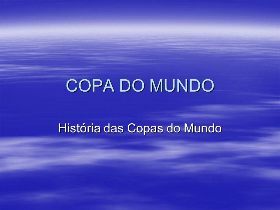 COPA DO MUNDO História das Copas do Mundo