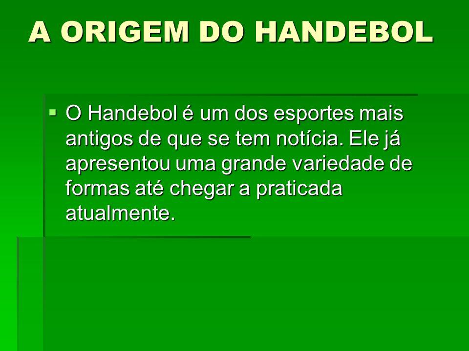 A ORIGEM DO HANDEBOL O Handebol é um dos esportes mais antigos de que se tem notícia. Ele já apresentou uma grande variedade de formas até chegar a pr