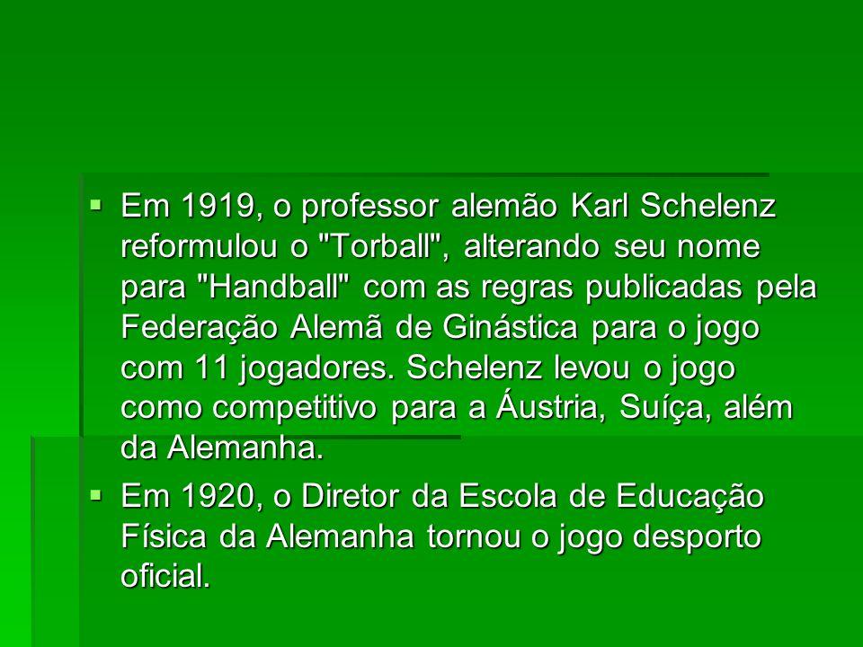 Em 1919, o professor alemão Karl Schelenz reformulou o
