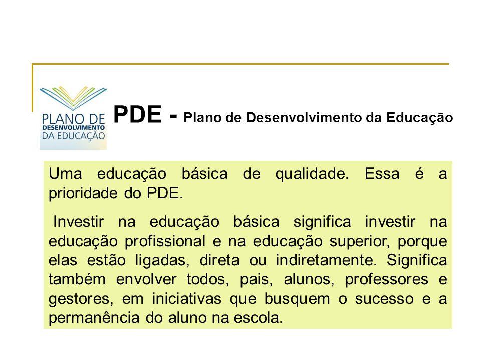 Uma educação básica de qualidade.Essa é a prioridade do PDE.