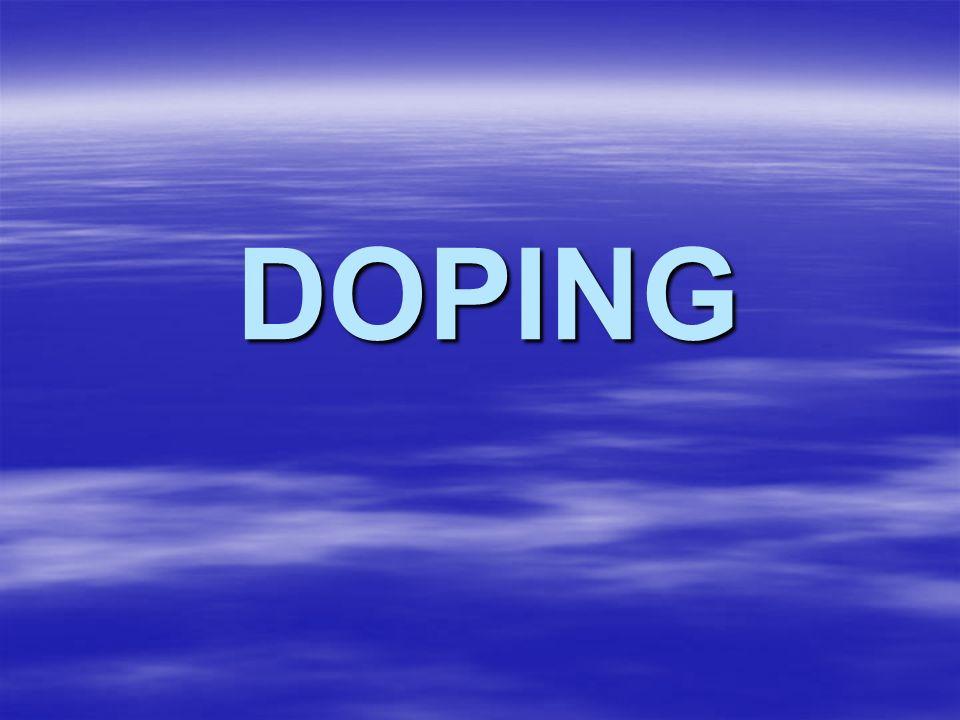 Existem 5 classes de substâncias dopantes: Estimulantes; Estimulantes; Narcóticos analgésicos; Narcóticos analgésicos; Diuréticos; Diuréticos; Esteróides anabolizantes; Esteróides anabolizantes; Hormônios peptídeos.