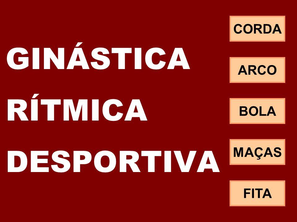 GINÁSTICA RÍTMICA DESPORTIVA CORDA ARCO BOLA MAÇAS FITA