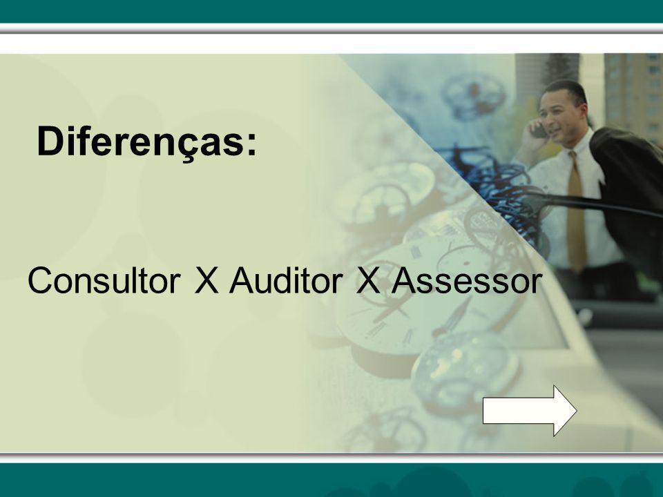 Diferenças: Consultor X Auditor X Assessor