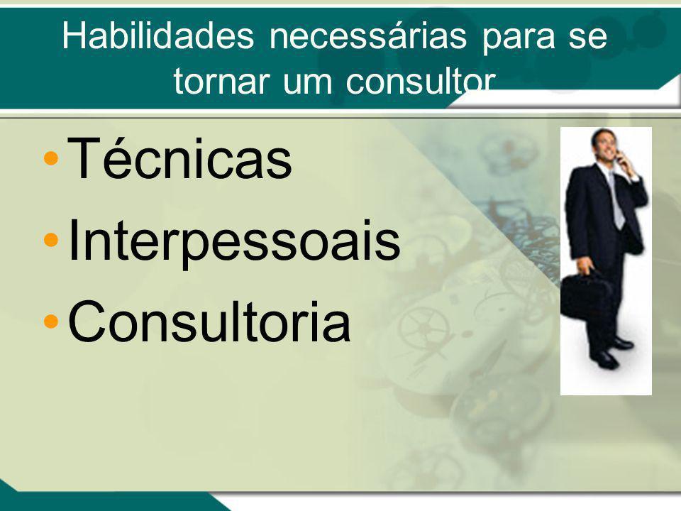 Habilidades necessárias para se tornar um consultor Técnicas Interpessoais Consultoria