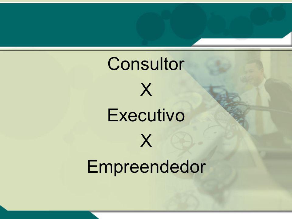 Consultor X Executivo X Empreendedor