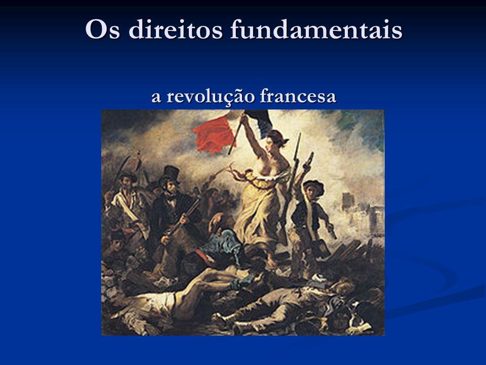 Os direitos fundamentais a revolução francesa