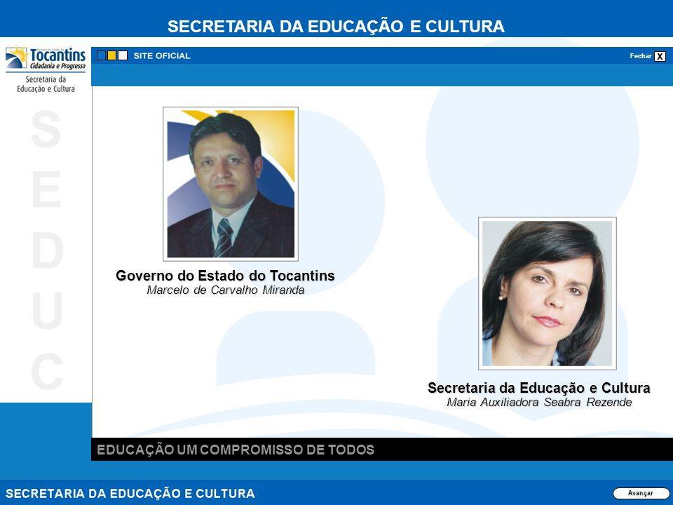 SECRETARIA DA EDUCAÇÃO E CULTURA x Fechar EDUCAÇÃO UM COMPROMISSO DE TODOS SEDUCSEDUC Avançar Secretaria da Educação e Cultura Maria Auxiliadora Seabr