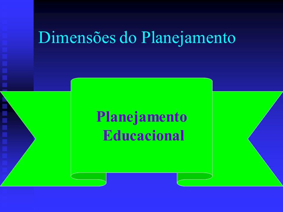 Dimensões do Planejamento Planejamento Educacional