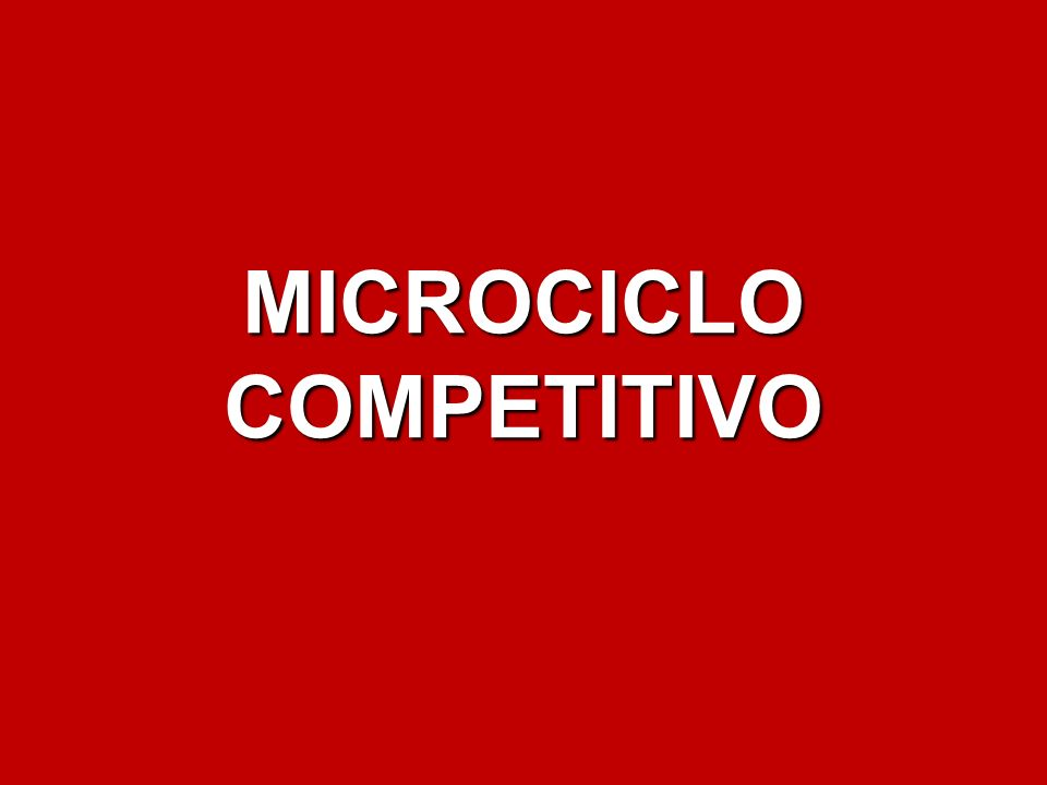MICROCICLOCOMPETITIVO