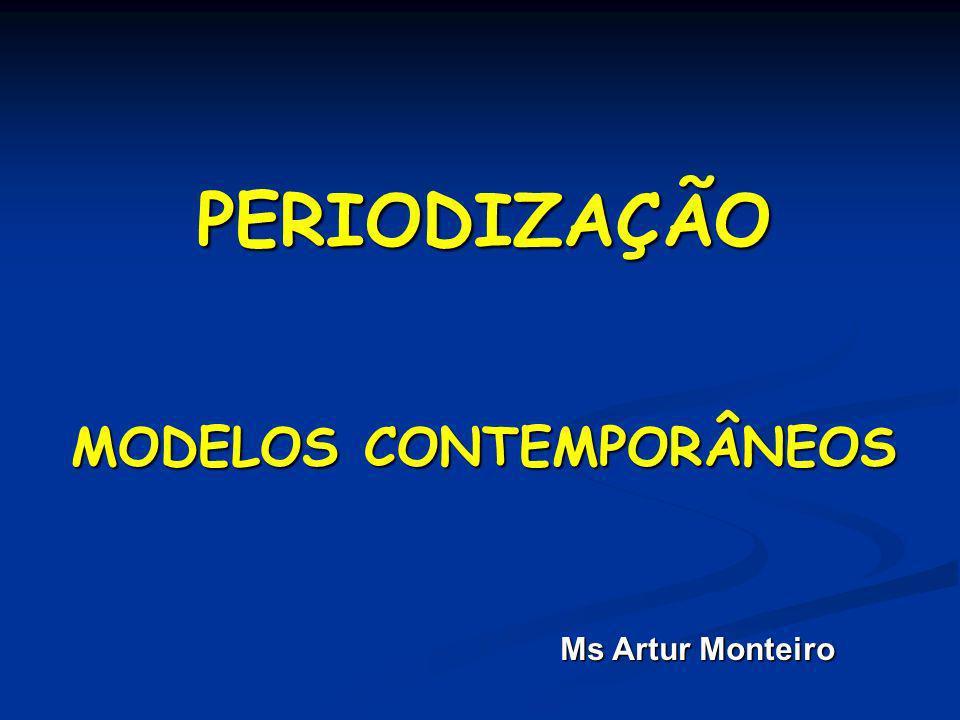 PERIODIZAÇÃO MODELOS CONTEMPORÂNEOS Ms Artur Monteiro