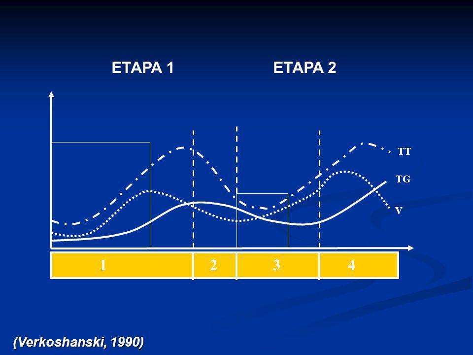 ETAPA 1ETAPA 2 TG TT V 1 2 3 4 (Verkoshanski, 1990)